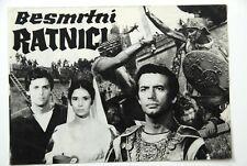 IMMORTAL WARRIORS DACII PIERRE BRICE 1966 RARE EXYUGO MOVIE PROGRAM