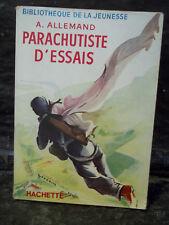 Allemand. PARACHUTISTE D'ESSAIS. Sport aérien, loisir, Chute libre. Paras. 1957