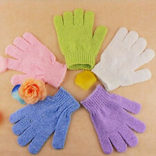 2x Shower Bath Gloves Exfoliating Wash Skin Spa Massage Loofah Body Scrubber