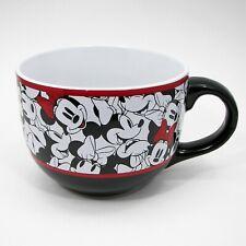 Disney Minnie Mouse Soup Bowl Jumbo Mug 24oz Collectible Cup Black White Red