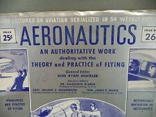 Aeronautics Theory Practice of Flying Issue 26 Civil Military 1942 Book
