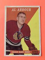 Al Arbour 1958-59 Topps Hockey Card #64 Chicago Black Hawks