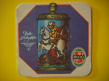 GERMAN Beer Brewery Coaster    Brauerei BECK'S ~ Bremen, GERMANY ~ Dragon Slayer