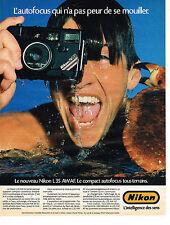 PUBLICITE ADVERTISING 054 1986  NIKON  appareil photo L35
