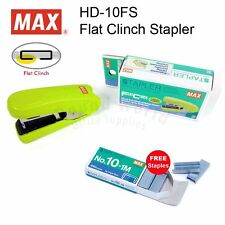 MAX HD-10FS Flat Clinch Stapler Office (5colors) + FREE Staples