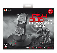 TRUST GXT243 PS4 PLAYSTATION 4 DUO CHARGING DOCK, DUAL-SHOCK 4 COMPATIBLE