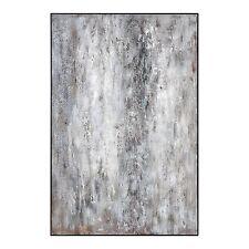 "Oversize 72"" Black White Gray Abstract Wall Art | Oil Painting Modern Floor"