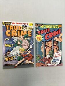 True Crime Mr. Monsters 1 & 2 Complete Set Eclipse Comics 1986 (TC01)