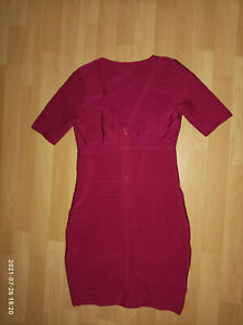 HERVE LEGER Kleid  magenta gr. M /L