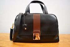 Marc Jacobs Frankie Bicolor Zip Satchel Bag, Black New With Tags $1595.00