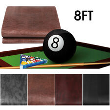 8ft Heavy Duty Leatherette Fitted Billiard Pool Table Cover Waterproof Dustproof