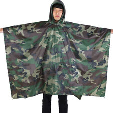 US Army Waterproof Hooded Rain Military Poncho Camping Hiking US Stock