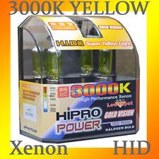 H11 55W 3000K GOLDEN YELLOW XENON HID HALOGEN FOG LIGHT BULBS
