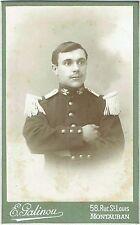 Photo cdv : Palinou ; Militaire de l'administration  en pose , vers 1890