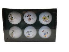 6 Disney Character Golf Balls New In Box Mickey Minnie Pluto Donald Daisy Goofy