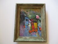GERALD PAYNE ROWLES B. 1929 PAINTING EXPRESSIONIST MODERNIST ABSTRACT VINTAGE