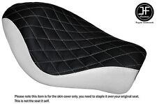 Vinilo Negro Y Blanco Diamante Personalizado Para Harley Sportster Iron 883 Solo Cubierta de asiento