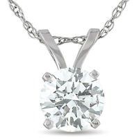 G/SI .50 Ct Diamond Solitaire Lab Grown Pendant 14K White Gold