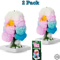 TREE KIT 2PK MAGIC GROWING Crystal Science Toy Kids Christmas Stocking Filler UK