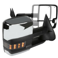 For Chevy Silverado GMC Sierra LED Smoke Signal POWER+HEATED Towing Side Mirrors