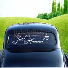 Just Married Sign Wedding Day Car Sticker Decorations Window Banner Decal Vinyl