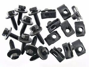 GM Truck Body Bolts & U-nut Clips- M8-1.25 x 30mm Long- 13mm Hex- 20 pcs- #154