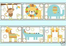 boys jungle nursery wallpaper borders ebay