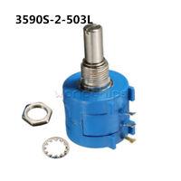 3590S-2-503L 50K Ohm BOURNS Rotary Wirewound Precision Potentiometer Pot 10 Turn