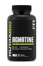 NutraBio Agmatine Sulfate 500mg 90 VCaps Muscular Pumps Nitric Oxide Endurance