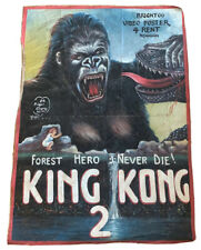 king kong ghana movie poster oil on floursack By Bright Obeng