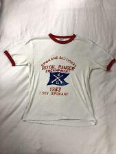 New listing 80s Vintage Fort Spokane Royal Ranger Encampment 1983 Military Ringer T-shirt
