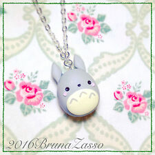Collana Totoro ~ Cute Miyazaki Ghibli Necklace Fimo Polymer Clay My Neighbor Tot