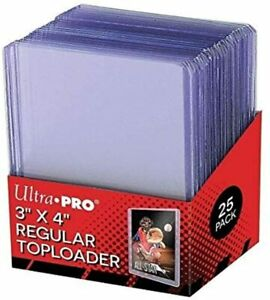 "Ultra Pro Regular Rigid 3"" x 4"" Top Loaders - 25 Pack"