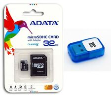 A-DATA 32 GB Class 4 Micro SD MicroSDHC Flash Memory Card with USB Reader 32G