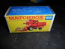 Mint Matchbox Lesney #65 Claas Combine Harvester Farm Machinery & Original Box