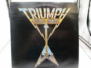 TRIUMPH Allied Forces  Vinyl LP Record RCA  AFL1-3902 VG+/NM Ultrasonic Clean