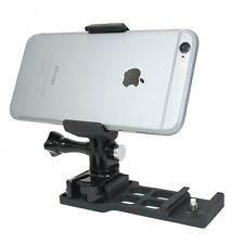Cantilever Picatinny Rail Mount + Locking Smartphone Mount for Video Recording.