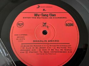 ENTER THE WU TANG CLAN 36 CHAMBERS LP RCA LOUD MUSIC
