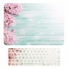 """2016 Macbook Pro 13"""" NO TOUCH BAR A1708, Pink Hyacinth Hard Case +Keyboard Cover"""