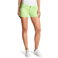 NWT BIG STAR Bright Lime Green Remy Low-Rise Shorts 31