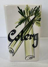 More details for toni raymond pottery celery pot ceramic retro kitchenalia made in england