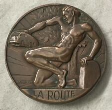 "France. Art Deco. ""La Route"", National Federation of Road Transport Medal, 1950"