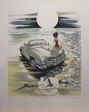 SUNSET de Daniel authouart lithographie signé Mercedes (aut0004)