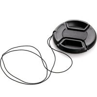 Universal 67mm Front Lens Cap Hood Snap-on with cord for Nikon Canon Pentax Sony