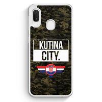 Kutina City Camouflage Kroatien Samsung Galaxy A20e Hülle Motiv Design Kroati...