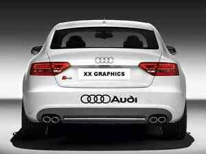 """Decal Sticker For Compatible with Audi Rings 22"""" A3 A4 A5 A6 S4 Q3 Q5 Q7 TT r8"""