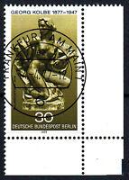 Berlin 543 Vollstempel gestempelt EST Ersttag Gummi Eckrand rechts u. Briefmarke