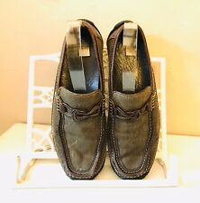 Donald Pliner Ettore I20 Loafers Shoes Mens 8.5 M Black Leather Slip On Driving