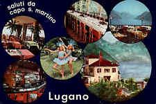 Capo S. Martino Lugano Paradiso Swizzera Kanton Tessin Schweiz Postkarte ~1970