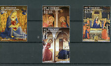 St Vincent & The Grenadines 2015 MNH Christmas Fra Angelico Paintings 4v Set Art